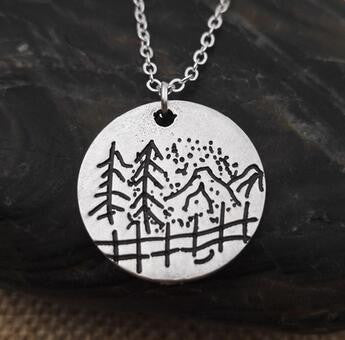 Find Your Road Under The Mountain Necklace