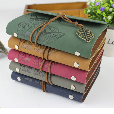 Vintage Travel Journal Leather Notebook A6 Handmade