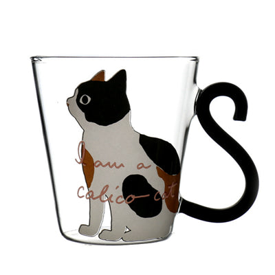 Cute Creative Cat Kitty Glass Mug Cup