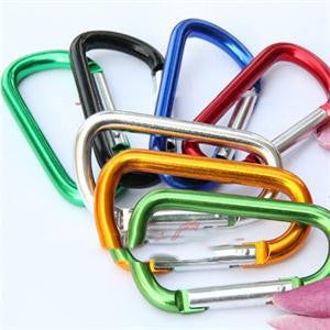 Safety Button Carabiner Shape Camping Hiking Hooks - HimalayasGears.com