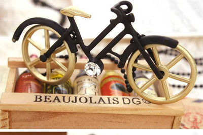 Handmade Retro Bicycle Pendant Long Necklace