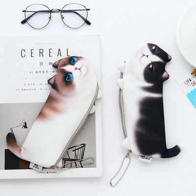 Novelty Simulation Cartoon Cat Pencil Cases