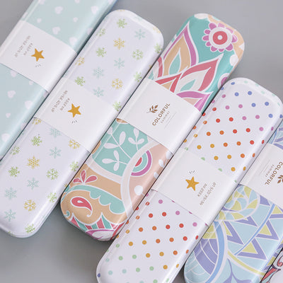 School Supplies Tin Plate Pencil Cases