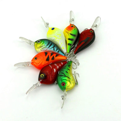 Crank Baits Conterfeit Fishing Rock Fat Lure Attractive Pike Bass