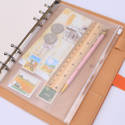 Storage Bag Office Supply Transparent Loose Notebooks Zipper Folder