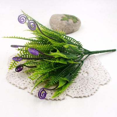Green Ferns Weed Branches Bouquet Home Decoration Artificial Flowers