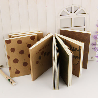 Mini Cute Notebook Old Painting Diary Day Planner Journal
