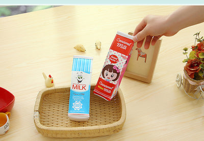 Creative Simulation Of Milk Cartoons Pencil Cases
