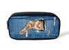 Women Makeup Bags Travel Cosmetic Jeans Denim Pencil Cases