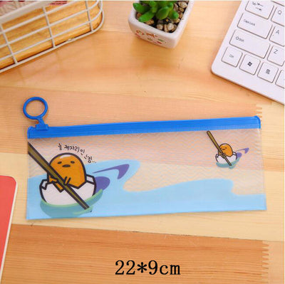 Lazy Egg transparent Pencil Cases School