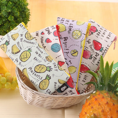 Cute Fruit School Pencil Cases For Girls