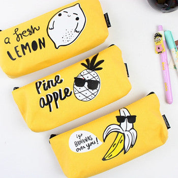 Banana Pencil Cases Creative School Pineapple Lemon