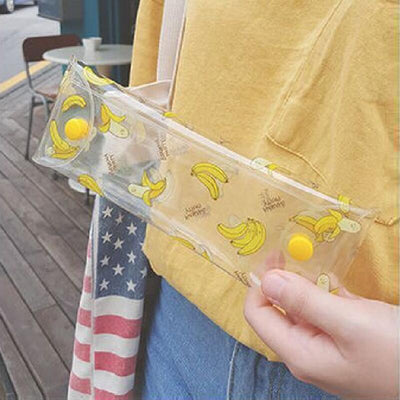 Creative Fresh Kawaii Transparent Fruit Banana Pencil Cases