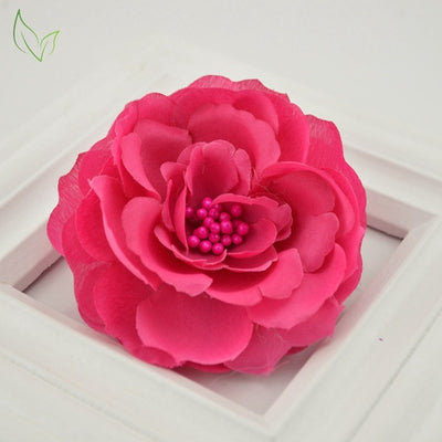 Silk Dried Camellia Artificial Flowers Decoration Gift For Wedding Home