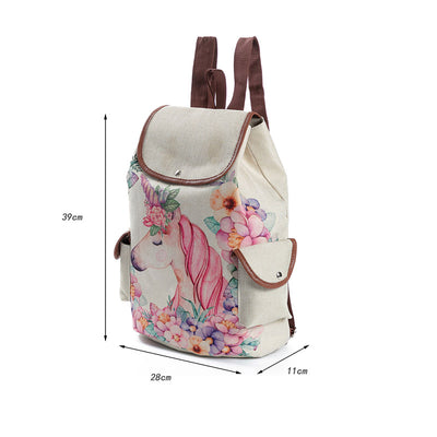 Women Cute Unicorn Print School Bags