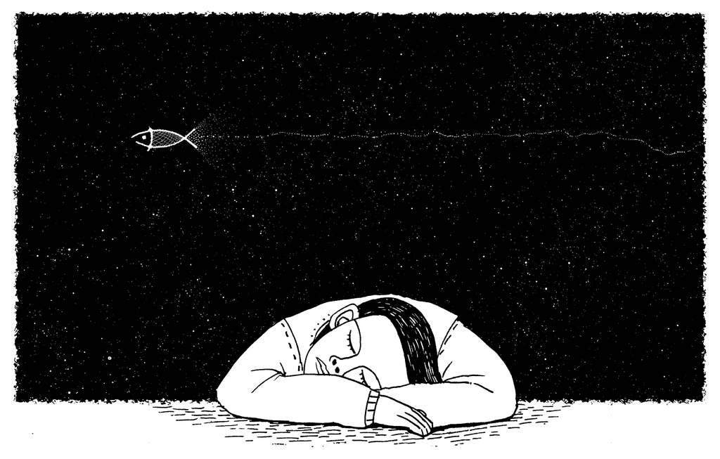 ONE simple step to improve your sleep and ultimately take your life to the next level - image of a cartoon drawn man sleeping