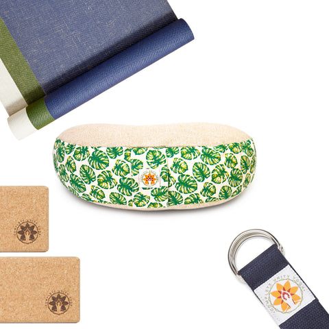 What To Buy Someone Who Loves Yoga - Complete Unity Yoga The Ultimate Home Yoga Set - Meditation Cushion Mindful Jungle