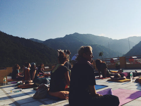 Rooftop Yoga Retreat, Rishikesh, India