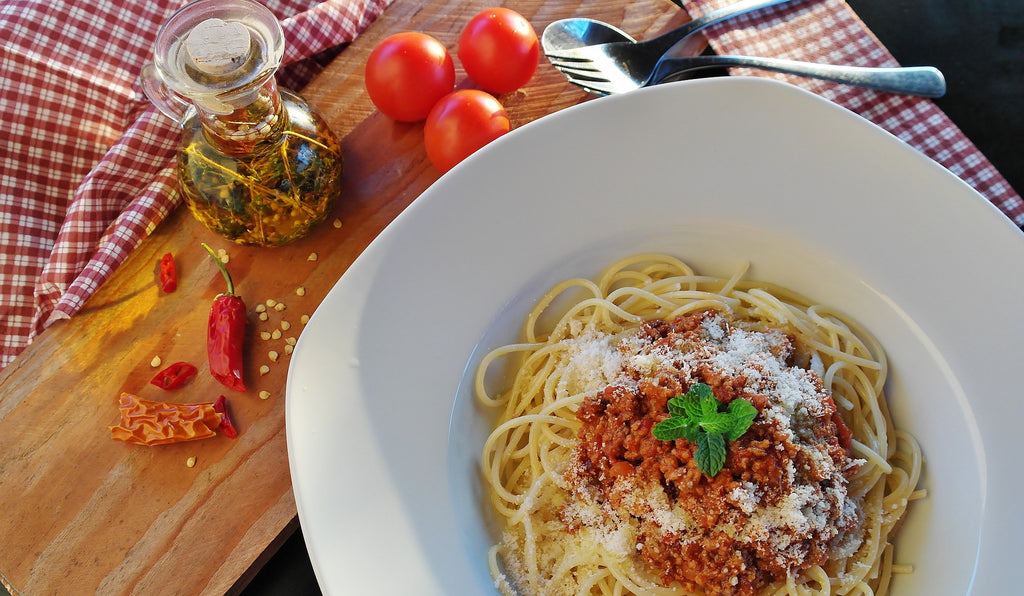 6 Ingredient Easy Vegan Bolognese - Arial View