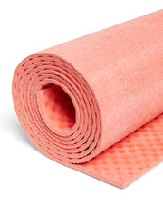 4mm Natural Eco Yoga Mat - Made from Natural Biodegradable Materials - Red - Close Up - S
