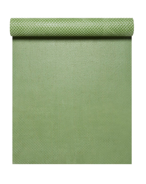 4mm Natural Eco Yoga Mat - Made from Natural Biodegradable Materials - Green - Arial View