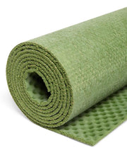 4mm Natural Eco Yoga Mat - Made from Natural Biodegradable Materials - Green - Close Up - S