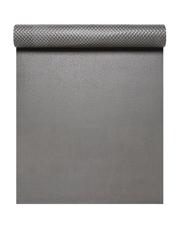 4mm Natural Eco Yoga Mat - Made from Natural Biodegradable Materials - Grey - Arial View