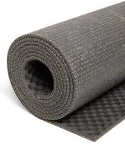 4mm Natural Eco Yoga Mat - Made from Natural Biodegradable Materials - Grey - Close Up - S