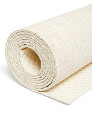4mm Natural Eco Yoga Mat - Made from Natural Biodegradable Materials - Natural - Close Up - S