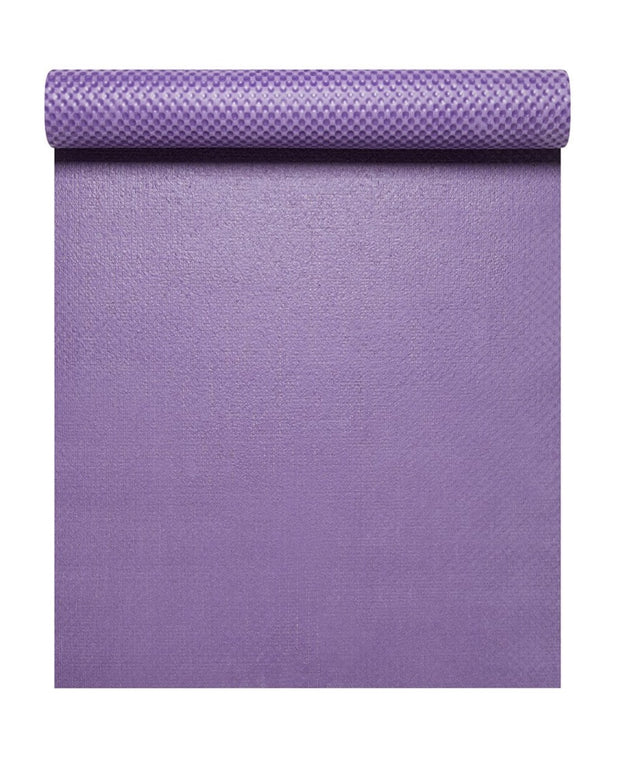 4mm Natural Eco Yoga Mat - Made from Natural Biodegradable Materials - Purple - Arial View