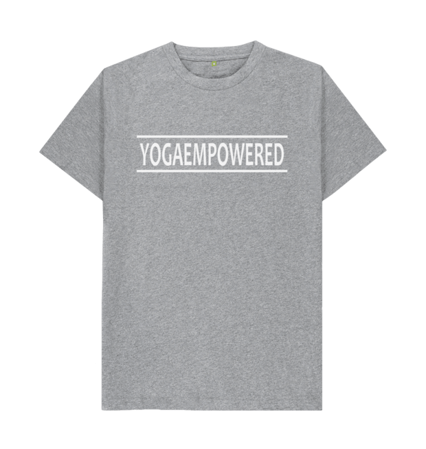 Classic Yoga Empowered Organic Men's Yoga T-shirt - Athletic Grey