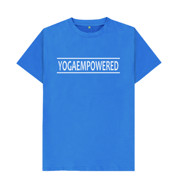 Classic Yoga Empowered Organic Men's Yoga T-shirt - Bright Blue
