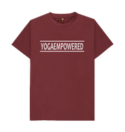 Classic Yoga Empowered Organic Men's Yoga T-shirt  - Red Wine