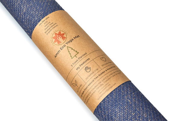 CompleteGrip™ Eco Yoga Mat - Complete Unity Yoga - Midnight Blue 4mm close up
