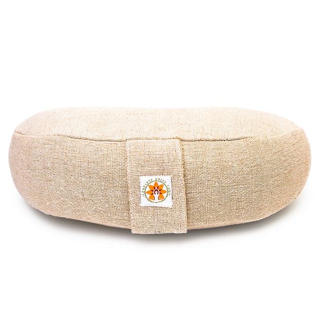 Yoga Meditation Cushion - Natural - Complete Unity Yoga - Front View