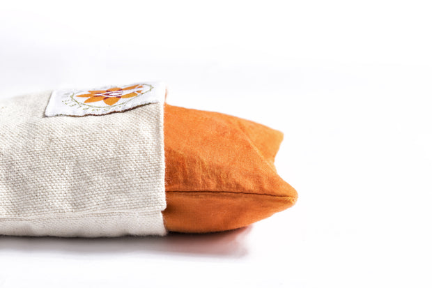 Himalayan Orange Eye Pillow - Yoga and Meditation Equipment - The Om Sadhana Collection