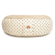 Meditation Cushion - Complete Unity Yoga - Natural Print - Front View
