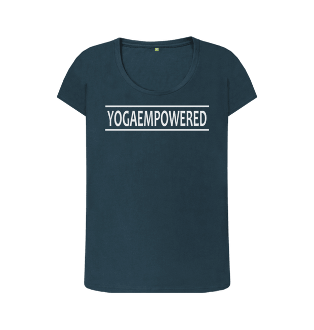 Original Yoga Empowered Yoga T-Shirt - Complete Unity Yoga - Petrol Blue