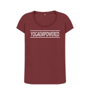 Original Yoga Empowered Yoga T-Shirt - Complete Unity Yoga - Red Wine