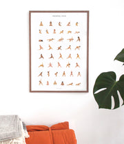 YOGAPRINTS PRENATAL YOGA POSTER