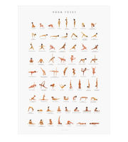 YOGAPRINTS Yoga Asana Poster