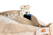 Yoga Mat Bag - Meadow Of Enlightenment - Complete Unity Yoga - Natural - Side View
