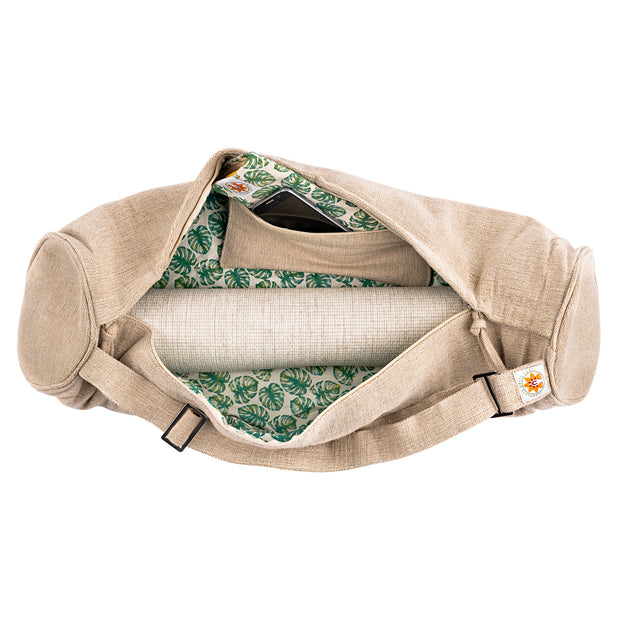 Yoga Mat Bag - Mindful Jungle - Complete Unity Yoga - Natural - Arial View