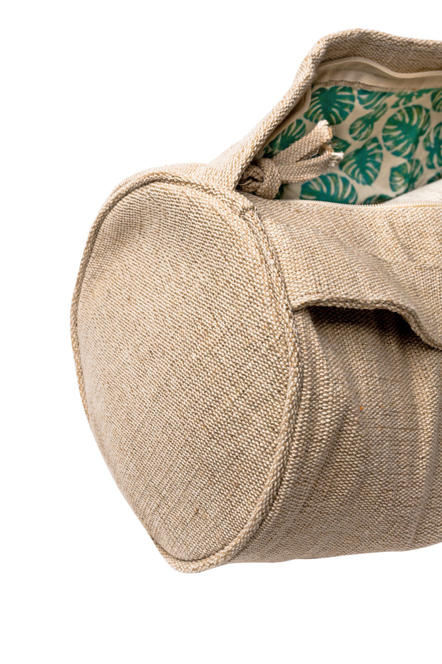 Yoga Mat Bag - Mindful Jungle - Complete Unity Yoga - Natural - Close Up