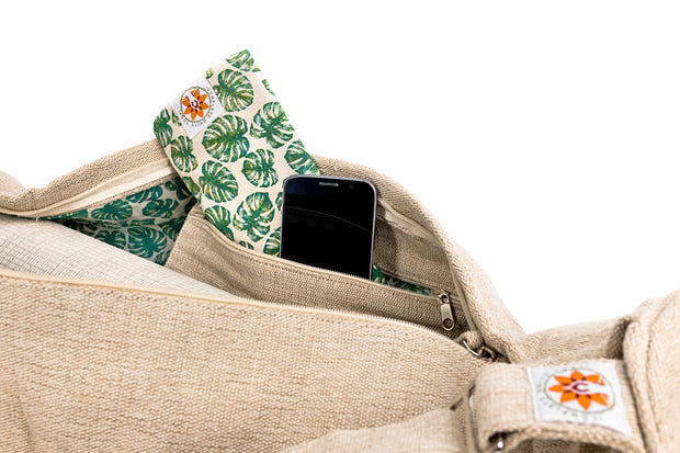 Yoga Mat Bag - Mindful Jungle - Complete Unity Yoga - Natural - Side View