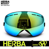 HERBA Ski Goggles Double Lens UV400 Anti-fog
