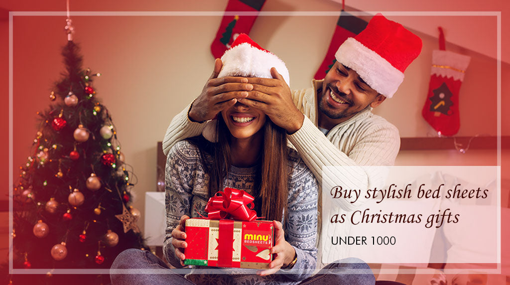 Buy stylish bed sheets as Christmas gifts under 1000