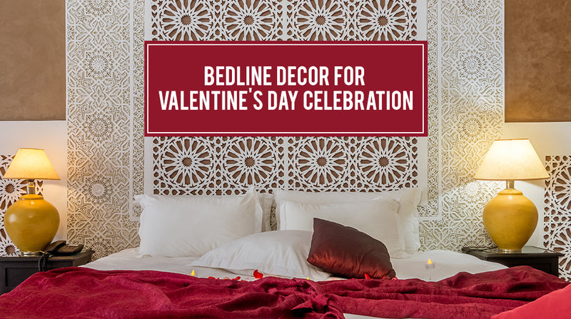 Romantic Bed line Décor for a Delightful Valentine's Day Celebration
