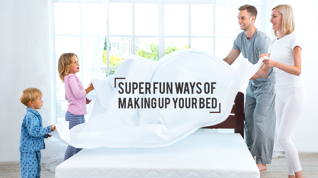 Super fun ways of making up your bed