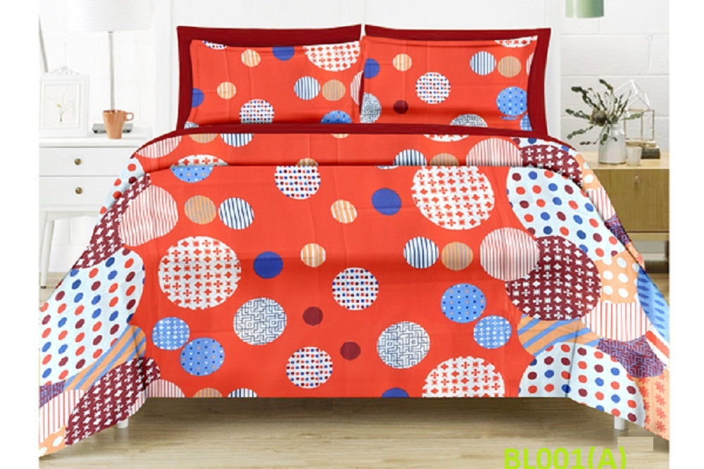 Blossom Round Pattern Double Bedsheet